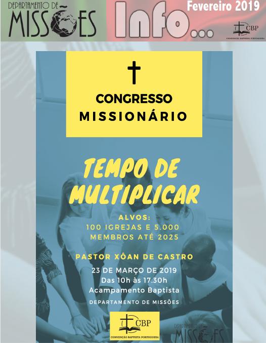 Boletim Informativo do Departamento de Missões da CBP – Fevereiro 2019