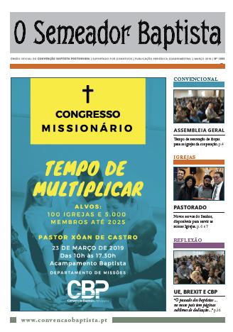 NOVA EDIÇÃO DO SEMEADOR – MARÇO 2019